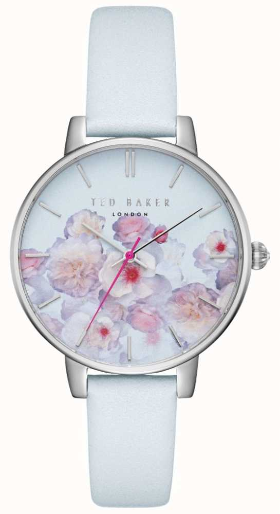 1517105a4 Ted Baker Womens Kate Blue   Pink Floral Print Dial Leather Strap ...