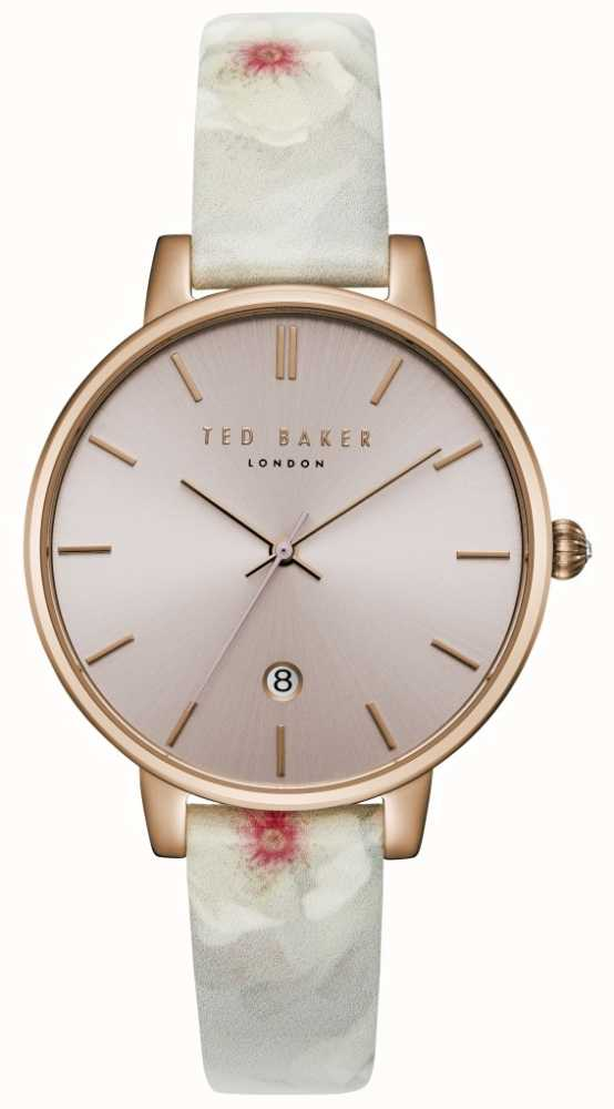 43c94ff64e9bb2 Ted Baker Womans Kate Pink Dial Floral Leather Print Strap ...