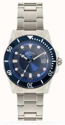Rotary Mens Stainless Steel Bracelet Blue Dial GB00487/05