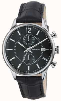 Breil Contempo Stainless Steel Chronograph Black Dial Black Strap TW1572