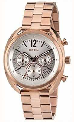 Breil Beaubourg Stainless Steel IPR Chronograph Silver Dial TW1674