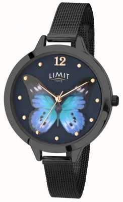 Limit Womens Secret Garden black pvd butterfly watch 6270.73