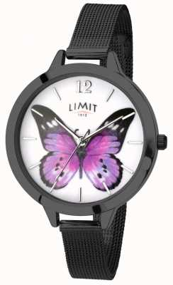 Limit Womens Secret Garden black mesh butterfly watch 6274.73