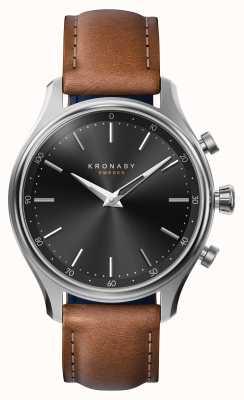Kronaby 38mm SEKEL Bluetooth Steel Leather Strap A1000-2749 S2749/1