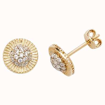 Treasure House 9k Yellow Gold Cubic Zirconia Stud Earrings ES564