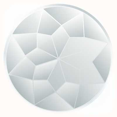 """MY iMenso """"FACETED GLASS"""" INSIGNIA 33MM 33-1138"""