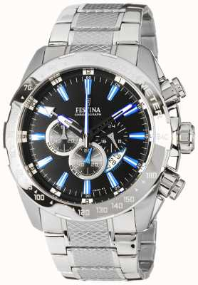 Festina Mens Chronograph Stainless Steel Black Dial F16488/3
