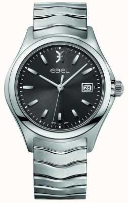 EBEL Mens Wave Stainless Steel Bracelet Grey Dial 1216239