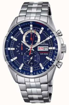 Festina Mens Chronograph Stainless Steel Watch F6844/3