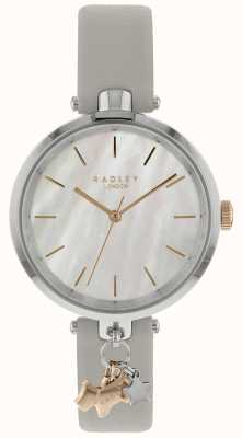 Radley Ladies Silver 34mm Case White Dog Charm RY2653