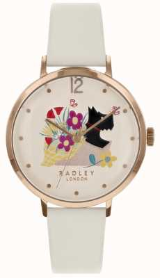 Radley Ladies 36mm Case Dial Chalk Leather Strap RY2662