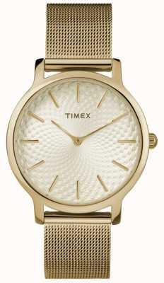 Timex 34mm Gold Mesh Bracelet/Gold Dial TW2R36100