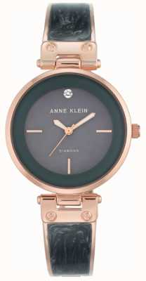 Anne Klein Womens Amanda Rose Gold Case Grey Dial AK/N2512GYRG
