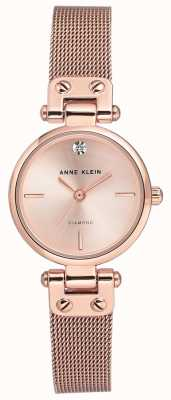 Anne Klein Womens Isabel Rose Gold Tone Mesh Bracelet And Dial AK/N3002RGRG