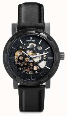 Weird Ape Kolt Automatic Black Leather Black IP Case WA02-005509