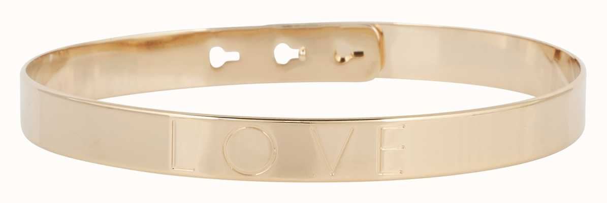 "Mya Bay Gold PVD Plated ""love"" Bangle JC-01.G"