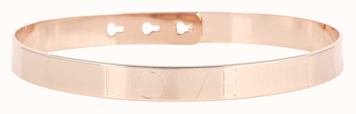 "Mya Bay Rose Gold PVD Plated ""love"" Bangle JL-01.P"