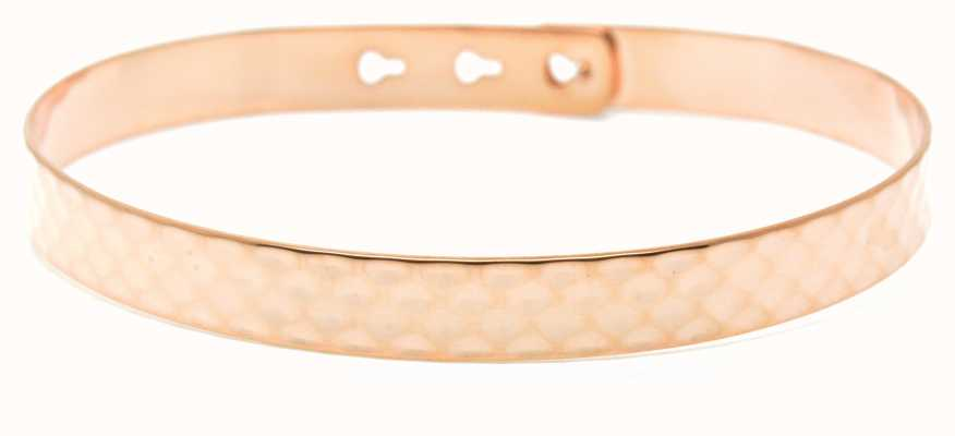 Mya Bay Rose Gold PVD  Plated Hammered Texture Bangle JL-07.P