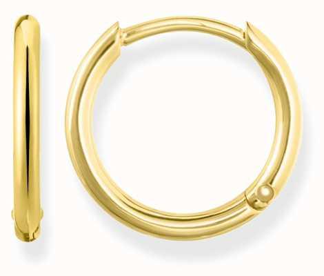 Thomas Sabo Womens Glam And Soul Small Hinged Hoops Gold CR608-413-12