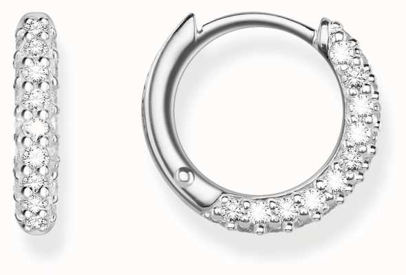 Thomas Sabo Womens Glam And Soul Pave Hoops CR612-051-14