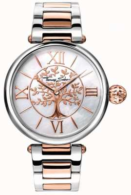 Thomas Sabo Women's Glam And Soul Karma Watch Rose Gold And Silver WA0315-272-213-38