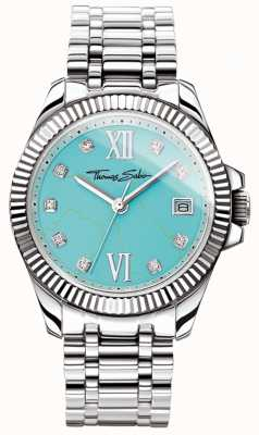 Thomas Sabo Women's Glam And Soul Divine Watch Turquoise Dial WA0317-201-215-33