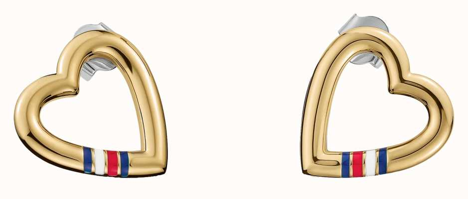 Tommy Hilfiger Gold Plated Heart Shape Casual Core Earrings 2700910