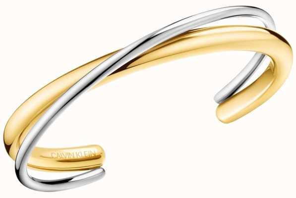 Calvin Klein Ladies Double Yellow Gold & Silver Stainless Steel Bracelet KJ8XJF20010S