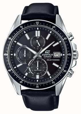 Casio Edifice Solar Sapphire Glass Leather Strap EFS-S510L-1AVUEF