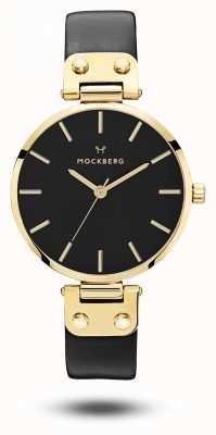 Mockberg Saga Black Gold PVD Case Black Strap Black Dial MO113