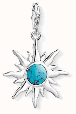 Thomas Sabo Sun With Turquoise Stone Charm 1535-404-17