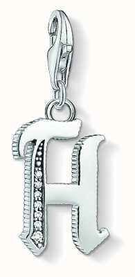 Thomas Sabo Letter H Pendant Sterling Silver Blackened Zirconia 1588-643-21