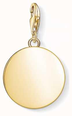 Thomas Sabo Yellow Gold Disc Pendant 1635-413-39