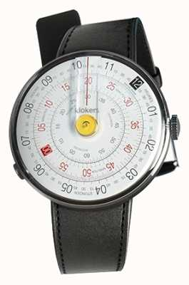 Klokers KLOK 01 Yellow Watch Head Black Satin Single Strap KLOK-01-D1+KLINK-01-MC1