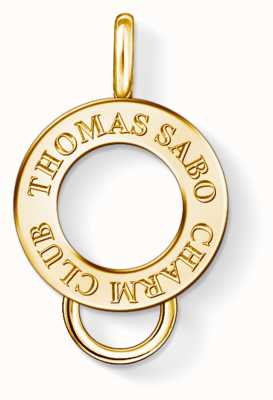 Thomas Sabo Yellow Gold Plated Sterling Silver Charm Carrier X0247-413-39