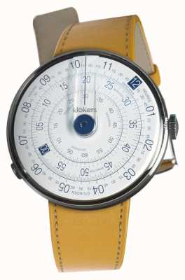 Klokers KLOK 01 Blue Head Case Newport Yellow Single Strap KLOK-01-D4.1+KLINK-01-MC7.1