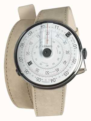 Klokers KLOK 01 Black Watch Head Grey Alcantara 420mm Double Strap KLOK-01-D2+KLINK-02-420C6