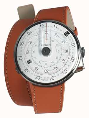 Klokers KLOK 01 Black Watch Head Orange 420mm Double Strap KLOK-01-D2+KLINK-02-420C8
