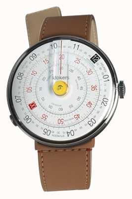 Klokers KLOK 01 Yellow Watch Head Caramel Brown Strait Single Strap KLOK-01-D1+KLINK-04-LC12