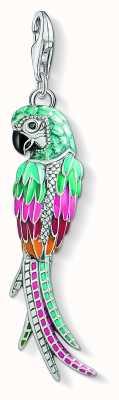 Thomas Sabo Sterling Silver Parrot Multicoloured Enamel And Zirconia Y0002-691-7