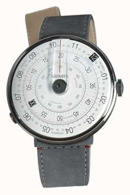 Klokers KlOK 01 Black Watch Head Grey Alcantara Strait Single Strap KLOK-01-D2+KLINK-04-LC11