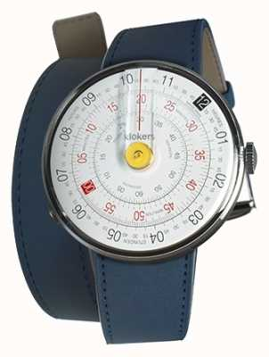 Klokers KLOK 01 Yellow Watch Head Indigo Blue Double Strap KLOK-01-D1+KLINK-02-380C3