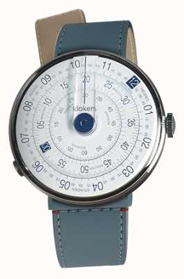 Klokers KLOK 01 Blue Watch Head Blue Jean Strait Single Strap KLOK-01-D4.1+KLINK-04-LC10