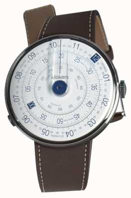 Klokers KLOK 01 Blue Watch Head Chocolate Brown Single Strap KLOK-01-D4.1+KLINK-01-MC4