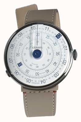Klokers KLOK 01 Blue Watch Head Grege Strait Single Strap KLOK-01-D4.1+KLINK-04-LC9