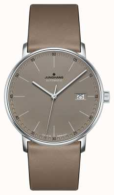 Junghans FORM A Automatic brown leather strap watch 027/4832.00
