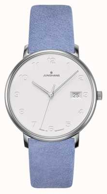 Junghans FORM Damen Light Blue Calfskin Strap 047/4852.00