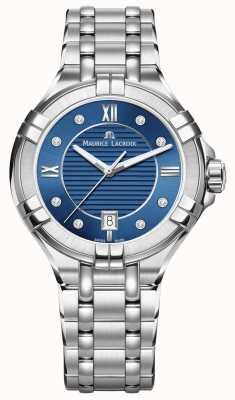 Maurice Lacroix Womens Aikon 35mm Stainless Steel Blue Dial AI1006-SS002-450-1