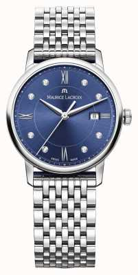Maurice Lacroix Womens Eliros Stainless Steel Blue Dial EL1094-SS002-450-1