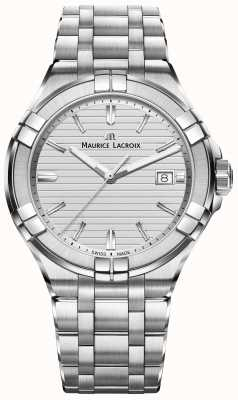 Maurice Lacroix Mens Aikon Stainless Steel Quartz Silver Dial AI1008-SS002-131-1